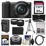 Sony Alpha A5100 Wi-Fi Digital Camera & 16-50mm Lens (Black) with 64GB...