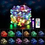 Maxsure Guirlande Lumineuse Multicolore USB 5M 50 LEDs, Fairy Lights 8 Modes et 12 Couleurs, Fils en Cuivre avec...