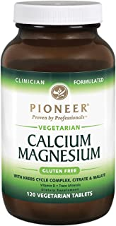 Pioneer Cal Mag & Vitamin D | Calcium & Magnesium Supplement for Adults | High Absorption | Verified Gluten Free | 120 Veg...