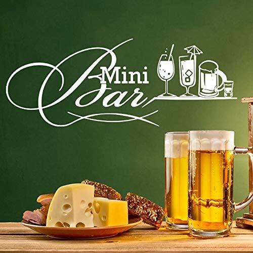 Vkjrro 112x42cm (Personalizar Nombre y Color) Etiqueta de la Pared de Vidrio Cocina Restaurante Cerveza Bar Bebida Etiqueta de la Pared de Vidrio Floristería Bar Decoración de Vinilo