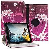 Tablet Hülle kompatibel für Medion Lifetab E6912 Tasche Schutzhülle Hülle Cover aus Kunstleder Standfunktion 360° Drehbar, Farben:Motiv 2
