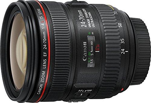 Canon Obiettivo con Zoom, EF 24-70 mm, f/4L IS USM SLR, Nero