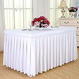 manteles del hotel, faldas de mesa de comedor en frío, manteles de conferencias, rectangulares, 120 * 60 * 75cm mantel ( Color : Blanco )