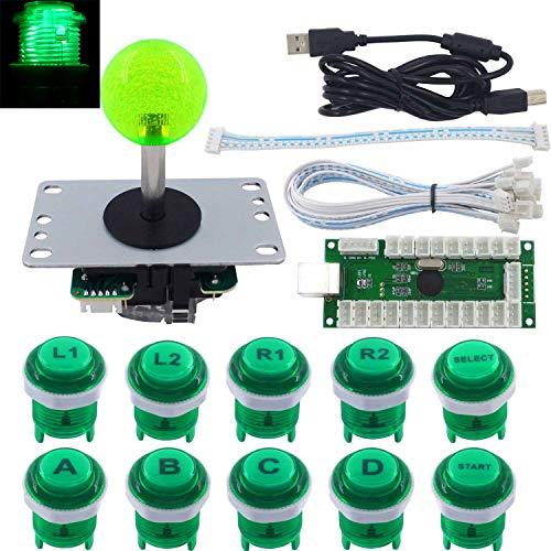 SJJX Arcade Game LED DIY Kit Mechanical Keyboard Switch LED Button PC MAME Retropie Arcade Joystick Controller Zero Delay USB Encoder