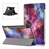 Shinyzone Custodia Cover per Samsung Galaxy Tab S7 11 Pollici 2020 T870/T875 Tablet,Custodia in Pelle PU Sottile e Leggera Smart Cover con Supporto,[Auto Sonno/Sveglia],Galassia