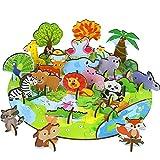 Fajiabao Puzzle Legno Animali Giocattolo per Bambini-75 Pezzi Puzzle 3D Bambini Puzzle Animali Giochi in Legno Animaletti per Bambini Giochi Montessori Educativi 3 4 5 Anni Ragazzo Ragazza