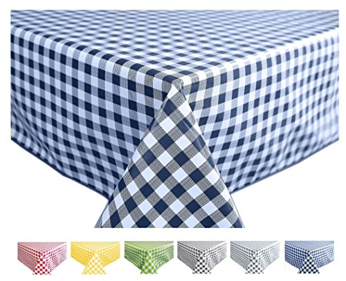 Traditional red checked design Wipeclean pvc vinyle nappe 140cm largeur