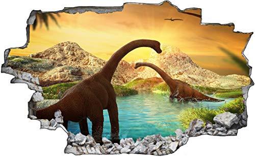 Dinosaurier Langhals Wasser Wandtattoo Wandsticker Wandaufkleber C1753 Größe 70 cm x 110 cm
