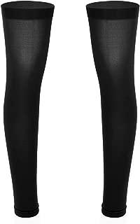 iixpin Overknee Str/ümpfe halterlose Kniestr/ümpfe f/ür Herren M/änner mit Spitzenbund Mesh Overknee Lange Socken Nachtclub Clubwear