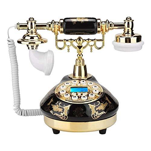 JFF Decoración De Teléfono Fijo Antiguo De Moda Antigua con Cable 1960, Sistema De Decoración De Teléfono De Oficina En Casa con Cable, Estilo Antiguo De Cerámica