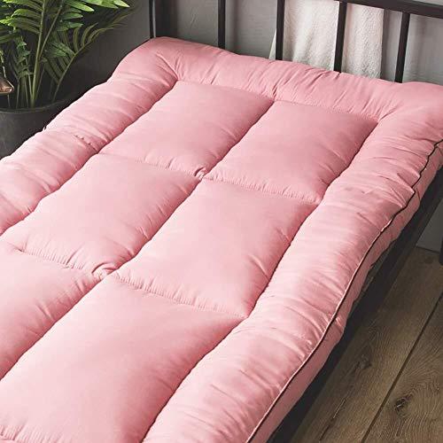 Inklapbare Tatami Futon matras, pluizige matras, slaapmat, dikke fluffy kamer yoga topper kussen leerlingentapijt 180x200cm(71x79inch) Pink-a