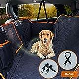 Upgraded Dog Seat Cover for Cars Trucks SUVs Waterproof Dog Travel Hammock Car