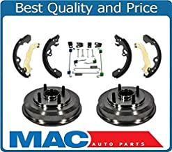 100% New Rear Drums Wheel Bearings Brake Shoes and Hardware for Ford Focus 00-08