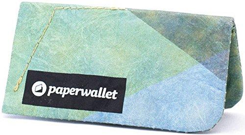 Grün/Gelb/Blau Münzenbeutel Briftasche von Paper Wallet
