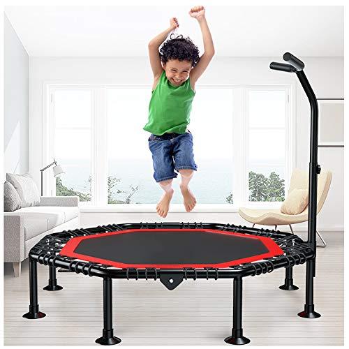 DYANG Mini Trampoline,Fitness Trampoline Indoor Jumping avec Poignée en Forme t Réglable en Hauteur pour Enfants Et Adultes Trampoline De Fitness Intérieur/Extérieur,Octagon,45in