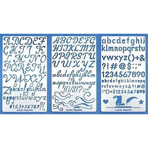 Aleks Melnyk #34 Metal Stencils/Alphabet Letter Number, ABC/Stainless Steel Stencils