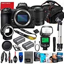 Nikon Z6 Mirrorless Digital Camera with Z 24-70mm f/4 S Lens & FTZ Mount Adapter Bundle + Premium Accessory Bundle Including TTL Flash, Extra Battery, Photo/Video Software Package & More