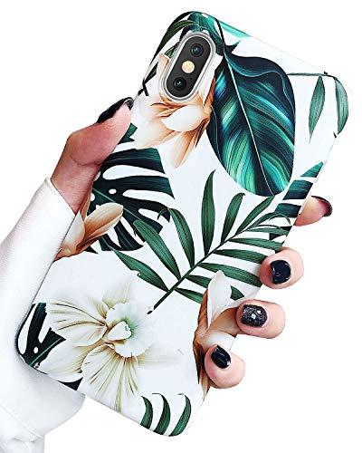 J.west Case Luxus Sparkle Bling Durchscheinend Neon Rainbow Leopard Gepardenmuster Weiche Silikon Handyhülle Mädchen Frauen Slim Fashion Muster Design Apple Xs Max 16,5 Zoll, rose
