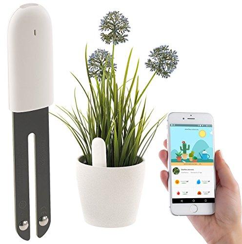 Royal Gardineer Zubehör zu Plant Sensor: 4in1-Pflanzensensor m. Bluetooth, App-Kontrolle, 1 Jahr Laufzeit, IPX5 (Bodensensor)