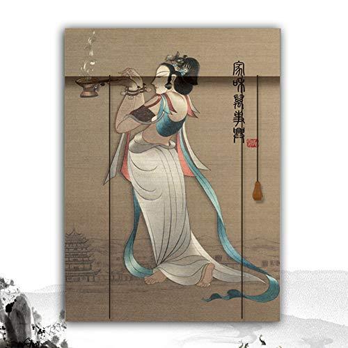 HAIPENG-Persianas Estores De Bambú Enrollable Ventanas Paisaje Impresión Persianas por Ventana Puertas Balcón Cortina Intimidad Interior Múltiple Amplio (Color : B, Size : 160X250CM)