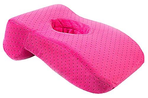 KINDOYO Espuma viscoelástica Lento Rebote Boca Abajo para Almohada cojín Siesta Dormir Almohada, Espuma con Efecto Memoria, 36 x 25 x 11 cm Rosa roja