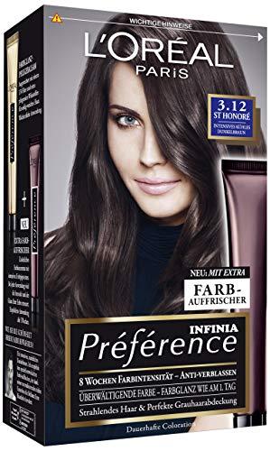 L'Oréal Paris Preference St. Honore Intensives Kühles Dunkelbraun Brunettes Parisiennes, 3er Pack (3 x 222 g)