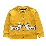 Enfants Fille Pull Hiver, Mamum Manches Longues Button en Cardigan Bambin Tenue Vêtements Manteau Blazers (120(4Ans))