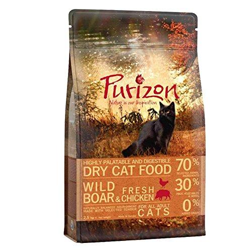Purizon Premium Katzenfutter für Erwachsene, Wildschwein, frisches Huhn und Fisch, 6,5 kg