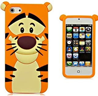 iPhone 6 Plus Case, Phenix-Color 3D Cute Cartoon Monster Blue Giant Horn University Style Silicone Rubber Case for iPhone 6 Plus 5.5 Inch (Tiger)