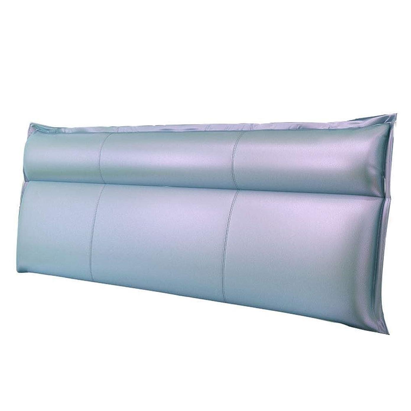 犠牲スケジュール弁護人NJYT ヘッドボードクッションベッドヘッドソフトパッケージベッドサイドクッションダブルベッド背もたれ枕ウエストパッド、5色、4サイズオプション (Color : Mint Blue-no Headboard, Size : 180CM)