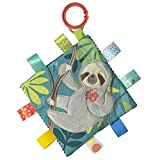Taggies Soothing Sensory Crinkle Me Toy with Baby Paper & Squeaker, 6.5 X 6.5, Molasses Sloth