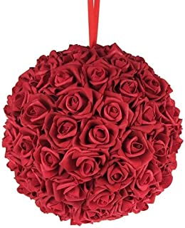 Homeford Firefly Imports Soft Touch Foam Kissing Ball Wedding Centerpiece, 12-Inch, Red,