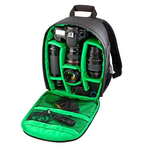 Lacaca-Zaino impermeabile, Borsa con tracolla per fotocamere DSLR Canon Nikon Sony