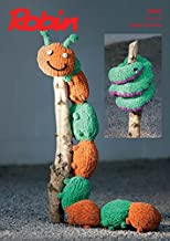 Robin Caterpillar & Snake Cuddly Toys Firecracker Knitting Pattern 3001 Super Chunky