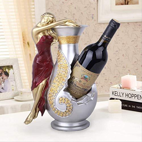 LISAQ Soporte de Botella de Vino de Resina para niña, Soporte de Vino de Diosa, Accesorios para decoración de Bar, Soporte de Vino, Regalo, decoración del hogar