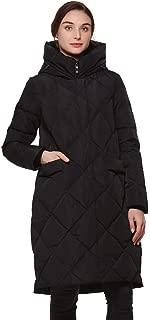Women's Heavy Duty Thickened Hooded Long Down Coat Winter High Low Hem Parka Puffer Jacket