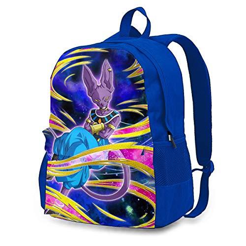 Dragon Ball Beerus, zaino per adulti colorato, leggero, con stampa, durevole, grande capacità, da viaggio