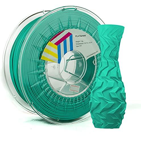 Eolas Prints | Filamento PLA 1.75 1Kg | Impresora 3D | Fabricado en España | Apto para uso alimentario y crear juguetes y envases | 1,75mm | 1Kg | Agua Marina