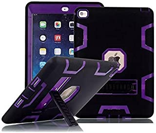iPad Air 2 Case, TabPow Purple Rugged Triple-Layer Shock-Resistant Drop Proof Defender Case Cover with Kickstand for Apple iPad Air 2 with Retina Display/iPad 6