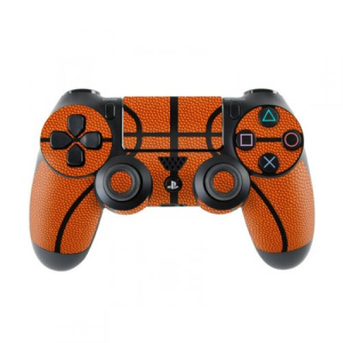 Skins4u Aufkleber Design Schutzfolie Skin kompatibel mit Sony Playstation 4 PS4 Basketball