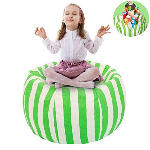 """UMYMAYDO1 38\"""" Stofftier Kuscheltiere Aufbewahrung Aufbewahrungstasche Sitzsack Kinder Soft Pouch Stoff Stuhl (Green)"""