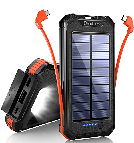 Solar Charger 20000mAh Built-in USB…