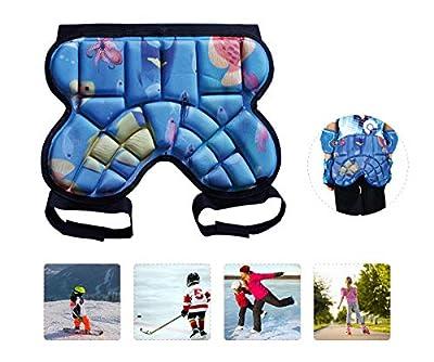 AUVSTAR Snowboard 3D Gepolstert Protektorhose für Kinder,Hüfte Schutz Shorts,Schutz Gepolsterte Shorts,Kinder Protektoren Hose für Ski Skate Snowboard Roller Skating Hockey Fußball (Kinder 3-8 Jahren)