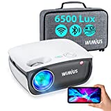 WiFi Projector, WiMiUS Bluetooth Projector Support Full HD 1080p, Mini Projector Support Screen Synchronization and 50% Zoom, Portable Projector Compatible with HDMI/USB/TV Box/AV/PC/ PS4 (Electronics)