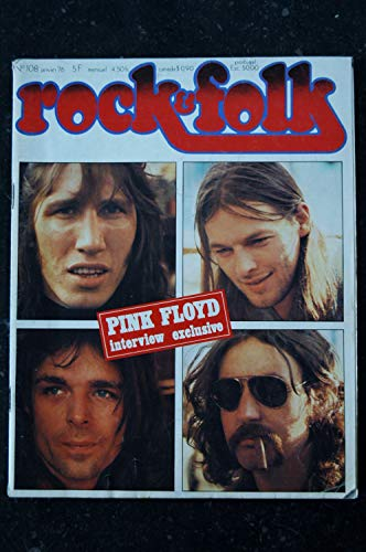 ROCK & FOLK 108 JANVIER 1976 PINK FLOYD INTERVIEW Procol Harum JIMI HENDRIX MAGMA