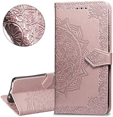 HMTECHUS Honor View 20 case Pure Color Embossing Shell Card Slots PU Premium Leather Wallet product image