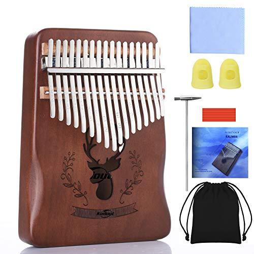 Kalimba 17 Clés Piano à pouce Professionnel Instrument de Musique avec Accessoires Doigt En Bois De Haute Qualité avec Tuning Hammer pour enfants adultes,débutants,professionnels et bande