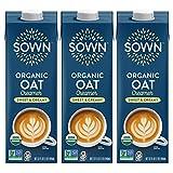 SOWN Organic Oat Creamer Sweet & Creamy - Barista Oat Milk Non Dairy Coffee Creamer - Plant Based,...
