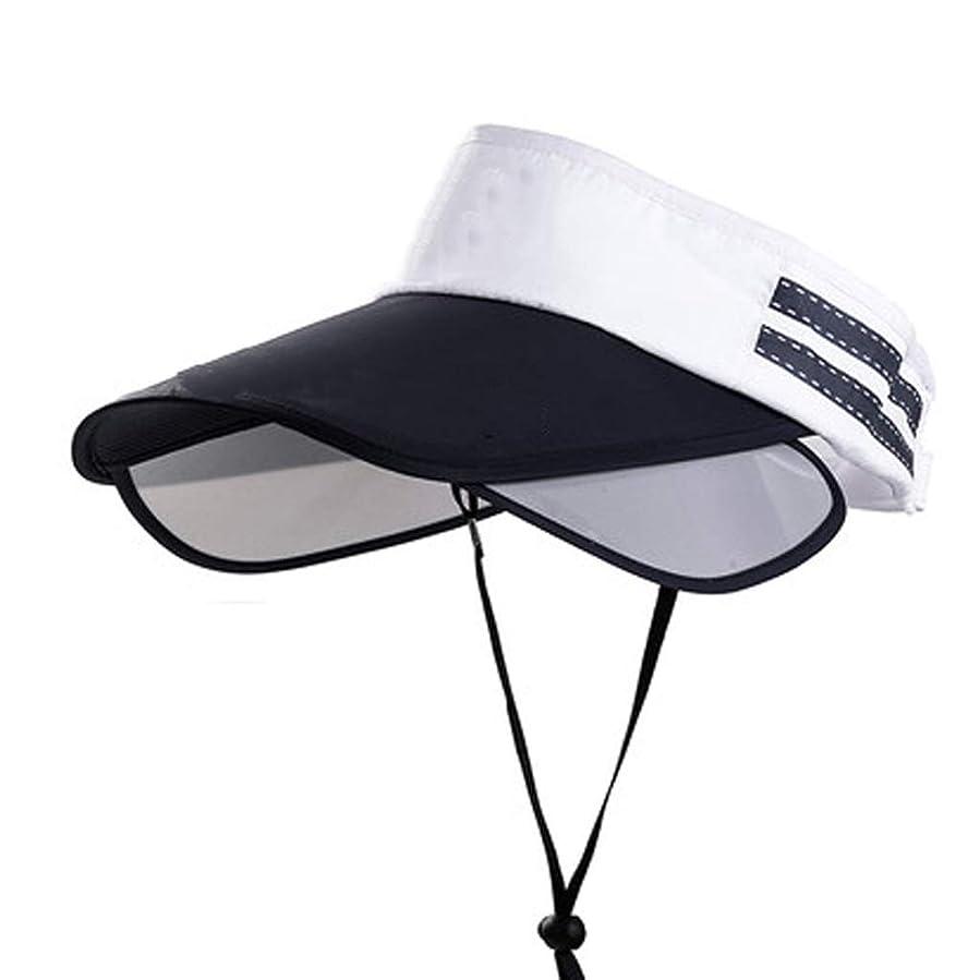 おそらくスロベニア改革ZFDM 麦わら帽子屋外の日曜日の帽子大きい帽子の乗馬のヘルメットの涼しい帽子の日焼け止めの調節可能な汗止めバンド通気性 (Color : 2)