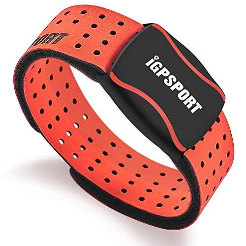 IGPSPORT HR60 Heart Rate Monitor Armband Wrist Ant+ Bluetooth Waterproof IPX7 HRM Sensor Compatible with Garmin/Strava/iPhone/Apple Watch